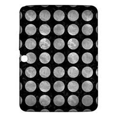 Circles1 Black Marble & Gray Metal 2 Samsung Galaxy Tab 3 (10 1 ) P5200 Hardshell Case