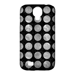 Circles1 Black Marble & Gray Metal 2 Samsung Galaxy S4 Classic Hardshell Case (pc+silicone)