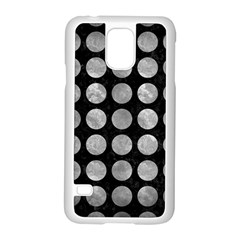 Circles1 Black Marble & Gray Metal 2 Samsung Galaxy S5 Case (white)