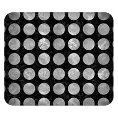 Circles1 Black Marble & Gray Metal 2 Double Sided Flano Blanket (small)