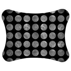 Circles1 Black Marble & Gray Metal 2 Jigsaw Puzzle Photo Stand (bow)