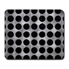 Circles1 Black Marble & Gray Metal 2 (r) Large Mousepads