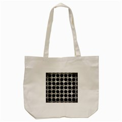 Circles1 Black Marble & Gray Metal 2 (r) Tote Bag (cream)