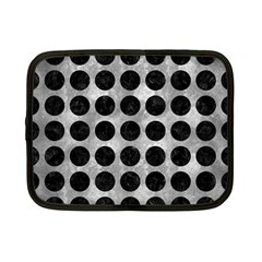 Circles1 Black Marble & Gray Metal 2 (r) Netbook Case (small)