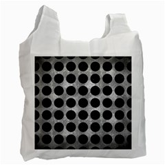 Circles1 Black Marble & Gray Metal 2 (r) Recycle Bag (one Side)