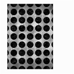 Circles1 Black Marble & Gray Metal 2 (r) Large Garden Flag (two Sides)