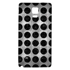 Circles1 Black Marble & Gray Metal 2 (r) Galaxy Note 4 Back Case