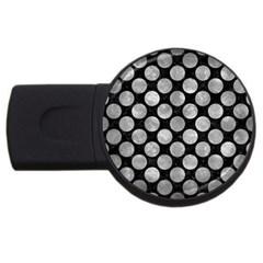 Circles2 Black Marble & Gray Metal 2 Usb Flash Drive Round (2 Gb)
