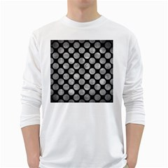 Circles2 Black Marble & Gray Metal 2 White Long Sleeve T Shirts