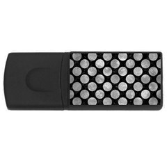 Circles2 Black Marble & Gray Metal 2 Rectangular Usb Flash Drive
