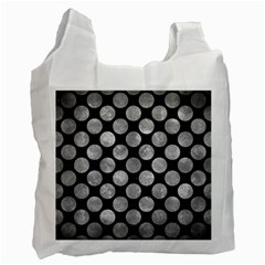 Circles2 Black Marble & Gray Metal 2 Recycle Bag (one Side)