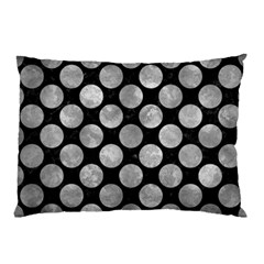 Circles2 Black Marble & Gray Metal 2 Pillow Case (two Sides)