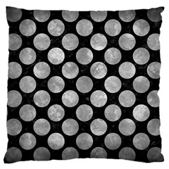 Circles2 Black Marble & Gray Metal 2 Large Cushion Case (one Side)