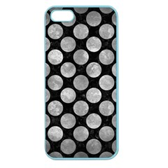 Circles2 Black Marble & Gray Metal 2 Apple Seamless Iphone 5 Case (color)