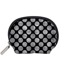 Circles2 Black Marble & Gray Metal 2 Accessory Pouches (small)