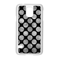 Circles2 Black Marble & Gray Metal 2 Samsung Galaxy S5 Case (white)