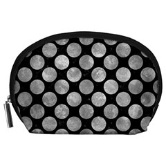 Circles2 Black Marble & Gray Metal 2 Accessory Pouches (large)