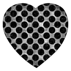 Circles2 Black Marble & Gray Metal 2 (r) Jigsaw Puzzle (heart)