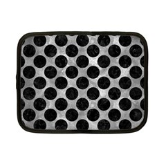 Circles2 Black Marble & Gray Metal 2 (r) Netbook Case (small)