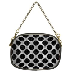 Circles2 Black Marble & Gray Metal 2 (r) Chain Purses (two Sides)