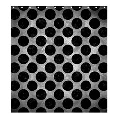 Circles2 Black Marble & Gray Metal 2 (r) Shower Curtain 66  X 72  (large)