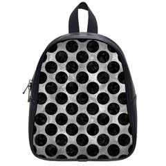 Circles2 Black Marble & Gray Metal 2 (r) School Bag (small)