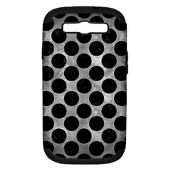Circles2 Black Marble & Gray Metal 2 (r) Samsung Galaxy S Iii Hardshell Case (pc+silicone)