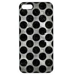 Circles2 Black Marble & Gray Metal 2 (r) Apple Iphone 5 Hardshell Case With Stand