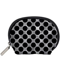 Circles2 Black Marble & Gray Metal 2 (r) Accessory Pouches (small)