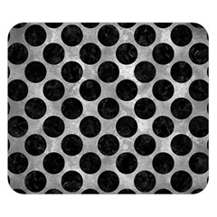 Circles2 Black Marble & Gray Metal 2 (r) Double Sided Flano Blanket (small)