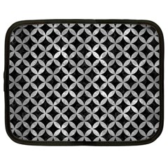Circles3 Black Marble & Gray Metal 2 Netbook Case (large)