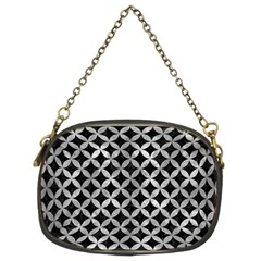 Circles3 Black Marble & Gray Metal 2 Chain Purses (two Sides)