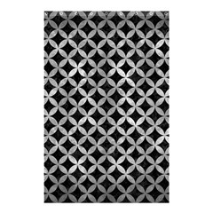 Circles3 Black Marble & Gray Metal 2 Shower Curtain 48  X 72  (small)