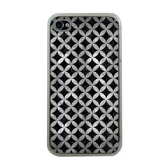 Circles3 Black Marble & Gray Metal 2 Apple Iphone 4 Case (clear)