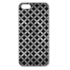 Circles3 Black Marble & Gray Metal 2 Apple Seamless Iphone 5 Case (clear)