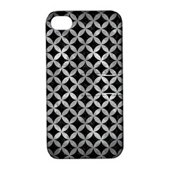 Circles3 Black Marble & Gray Metal 2 Apple Iphone 4/4s Hardshell Case With Stand