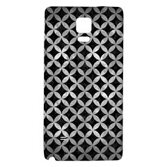 Circles3 Black Marble & Gray Metal 2 Galaxy Note 4 Back Case