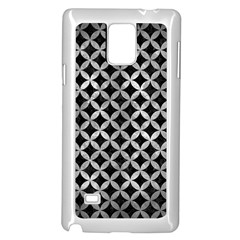 Circles3 Black Marble & Gray Metal 2 Samsung Galaxy Note 4 Case (white)