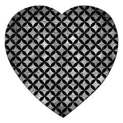 Circles3 Black Marble & Gray Metal 2 (r) Jigsaw Puzzle (heart)