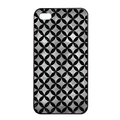 Circles3 Black Marble & Gray Metal 2 (r) Apple Iphone 4/4s Seamless Case (black)