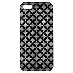 Circles3 Black Marble & Gray Metal 2 (r) Apple Iphone 5 Hardshell Case
