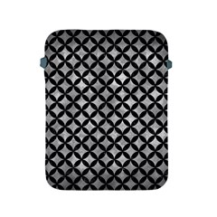 Circles3 Black Marble & Gray Metal 2 (r) Apple Ipad 2/3/4 Protective Soft Cases