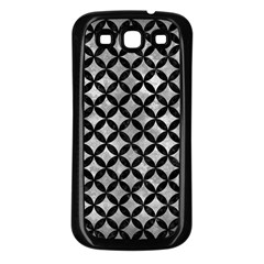 Circles3 Black Marble & Gray Metal 2 (r) Samsung Galaxy S3 Back Case (black)