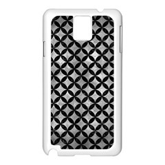 Circles3 Black Marble & Gray Metal 2 (r) Samsung Galaxy Note 3 N9005 Case (white)