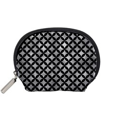 Circles3 Black Marble & Gray Metal 2 (r) Accessory Pouches (small)