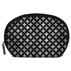 Circles3 Black Marble & Gray Metal 2 (r) Accessory Pouches (large)