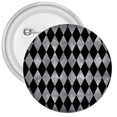 Diamond1 Black Marble & Gray Metal 2 3  Buttons