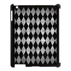 Diamond1 Black Marble & Gray Metal 2 Apple Ipad 3/4 Case (black)