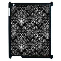 Damask1 Black Marble & Gray Metal 2 Apple Ipad 2 Case (black)