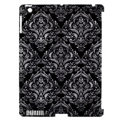 Damask1 Black Marble & Gray Metal 2 Apple Ipad 3/4 Hardshell Case (compatible With Smart Cover)